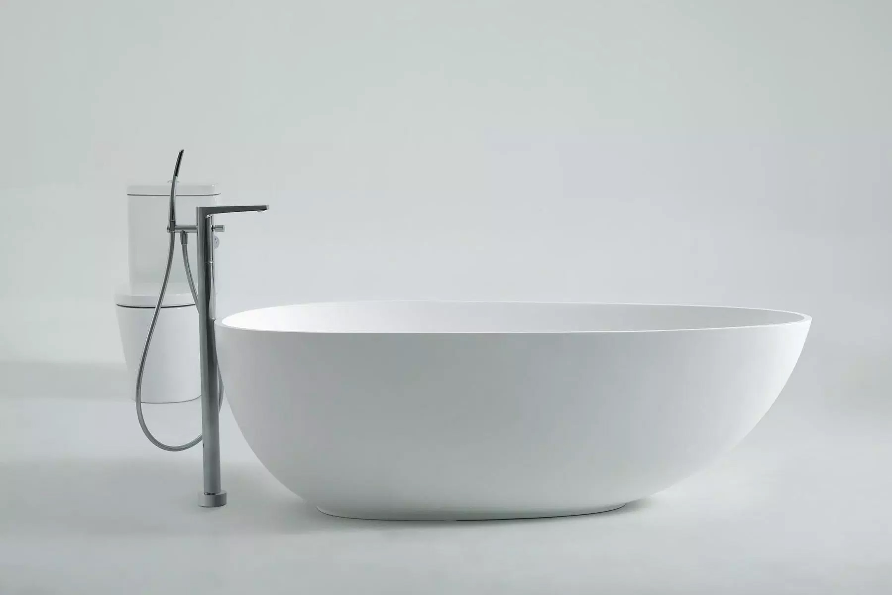 1.71m Solid Surface Free Standing Bathtub