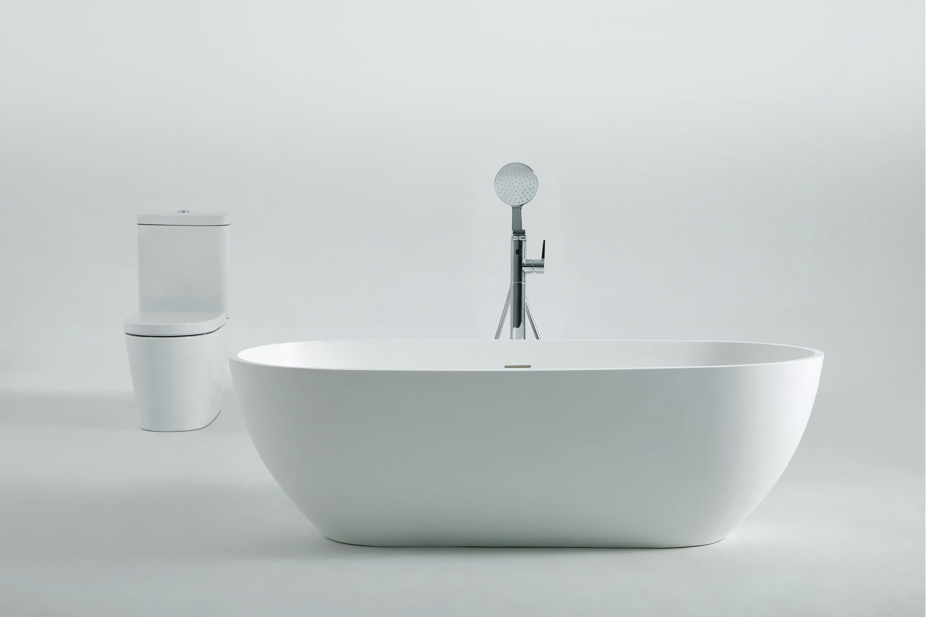 1.73m Solid Surface Free Standing Bathtub